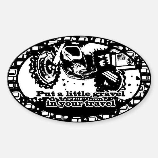Adventure Bike Oval Sticker (Oval)
