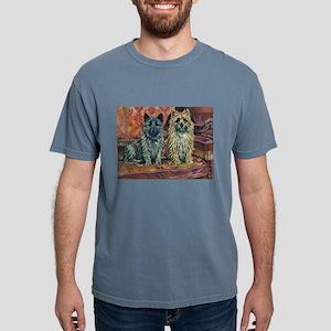 Cairn Terriers Art Mens Comfort Colors Shirt