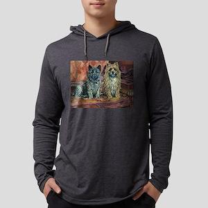 Cairn Terriers Art Mens Hooded Shirt