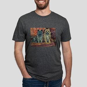 Cairn Terriers Art Mens Tri-blend T-Shirt