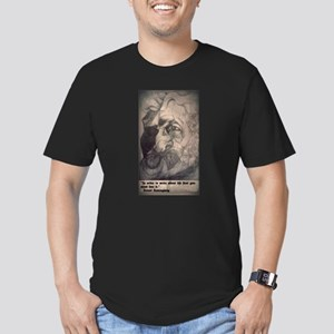 Ernest Hemingway Men's Fitted T-Shirt (dark)