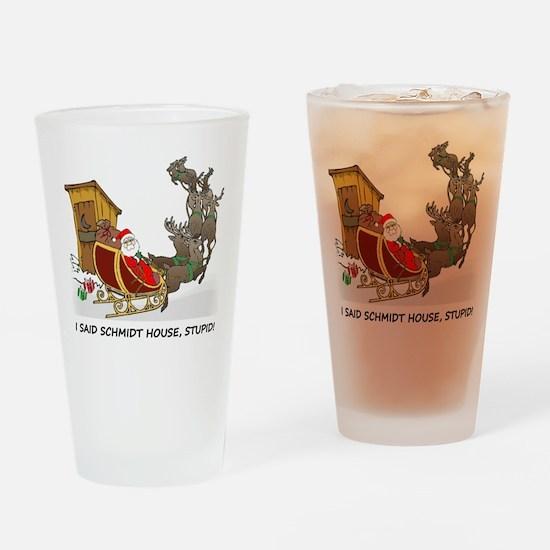 Schmidt House Cartoon Christmas Drinking Glass