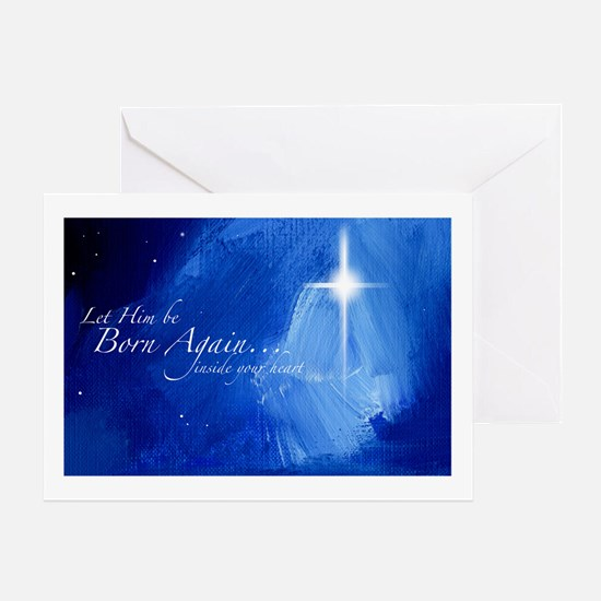 Christmas Night Star Greeting Card