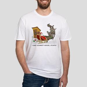 Schmidt House Cartoon Christmas Fitted T-Shirt