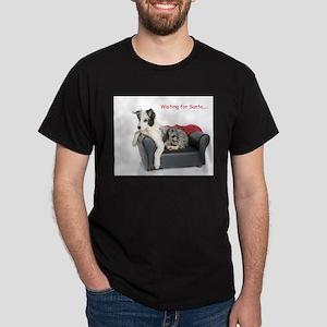 Waiting for Santa Dark T-Shirt