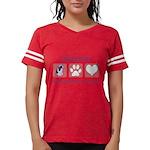 FIN-ckcs-pawprints Womens Football Shirt