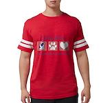 FIN-ckcs-pawprints Mens Football Shirt