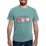 FIN-ckcs-pawprints Mens Comfort Colors Shirt