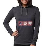FIN-ckcs-pawprints Womens Hooded Shirt