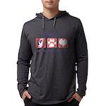 FIN-ckcs-pawprints Mens Hooded Shirt