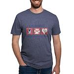 FIN-ckcs-pawprints Mens Tri-blend T-Shirt