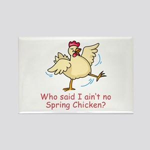 Spring Chicken Rectangle Magnet