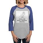Cavalier King Charles Spaniel Womens Baseball Tee