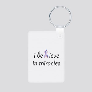 i believe in miracles Aluminum Photo Keychain