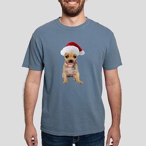 Chihuahua Santa Mens Comfort Colors Shirt