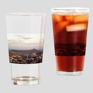 Diamond Head at dusk Drinking Glass