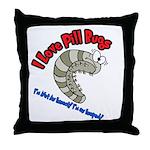 Pill Bug Throw Pillow