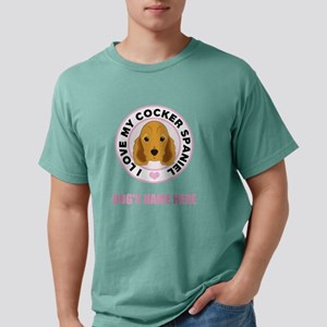 Custom Cocker Spaniel Mens Comfort Colors Shirt