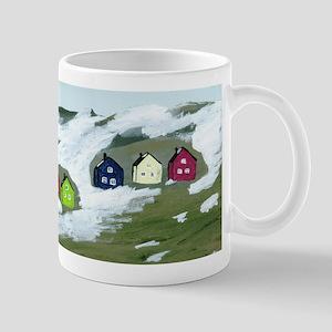 Colorful Winter Houses Mug
