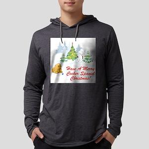 FIN-merry-cocker-spaniel-christmas Mens Hooded