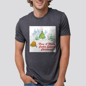 FIN-merry-cocker-spaniel-christmas Mens Tri-bl