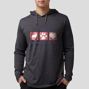 FIN-collie-pawprints Mens Hooded Shirt