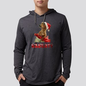 Naughty Dachshund Mens Hooded Shirt