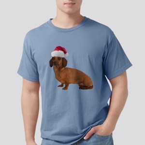 FIN-santa-dachshund-TRANS Mens Comfort Colors