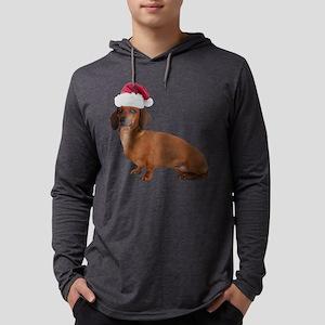 FIN-santa-dachshund-TRANS Mens Hooded Shirt