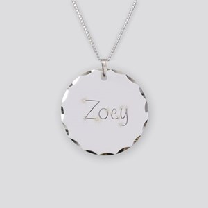Zoey Spark Necklace Circle Charm