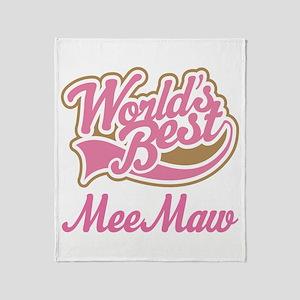 MeeMaw (Worlds Best) Throw Blanket