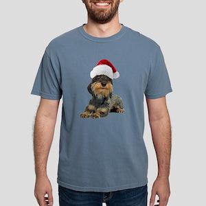FIN-wirehaired-dachshund-santa-CROP Mens Comfo