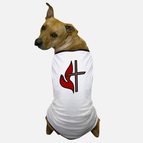 Cross And Flame Dog T-Shirt