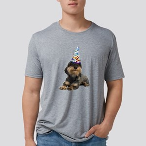 Wirehaired Dachshund Party Mens Tri-blend T-Shirt
