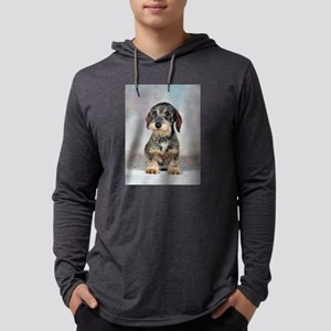 FIN-wirehaired-dachshund-PRINT-9x12 Mens Hoode