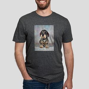 FIN-wirehaired-dachshund-PRINT-9x12 Mens Tri-b