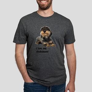 FIN-wirehaired-dachshund-love Mens Tri-blend T