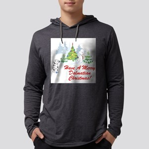 FIN-dalmatian-christmas Mens Hooded Shirt
