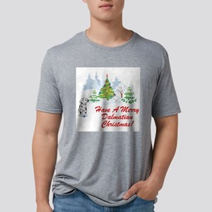 FIN-dalmatian-christmas Mens Tri-blend T-Shirt