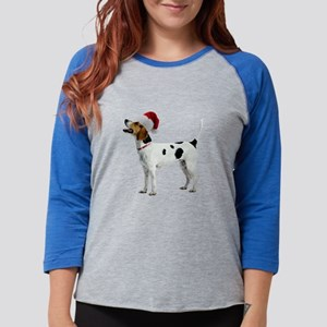 FIN-english-foxhound-santa-CROP Womens Basebal
