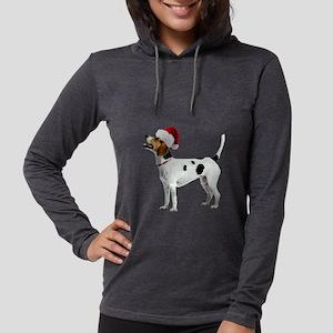 FIN-english-foxhound-santa-CROP Womens Hooded