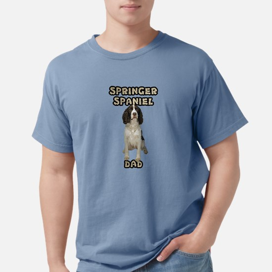 Springer Spaniel Dad Mens Comfort Colors Shirt