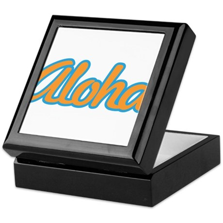 Aloha Hello Aloha Goodbye Hawaii Keepsake Box