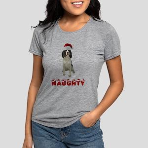 Springer Spaniel Naughty Womens Tri-blend T-Shirt