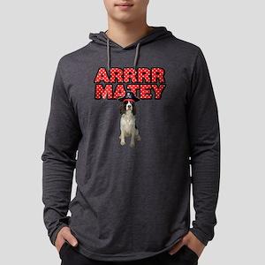 Pirate Springer Spaniel Mens Hooded Shirt