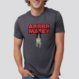 Pirate Springer Spaniel Mens Tri-blend T-Shirt