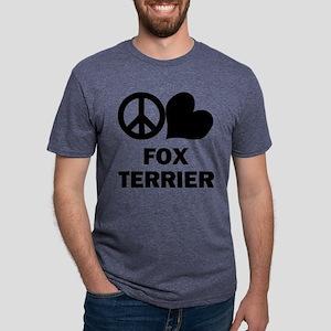 FIN-peace-love-fox-terrier Mens Tri-blend T-Sh