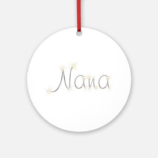 Nana Spark Round Ornament