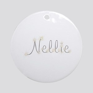 Nellie Spark Round Ornament