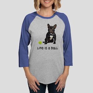 French Bulldog Life Womens Baseball Tee
